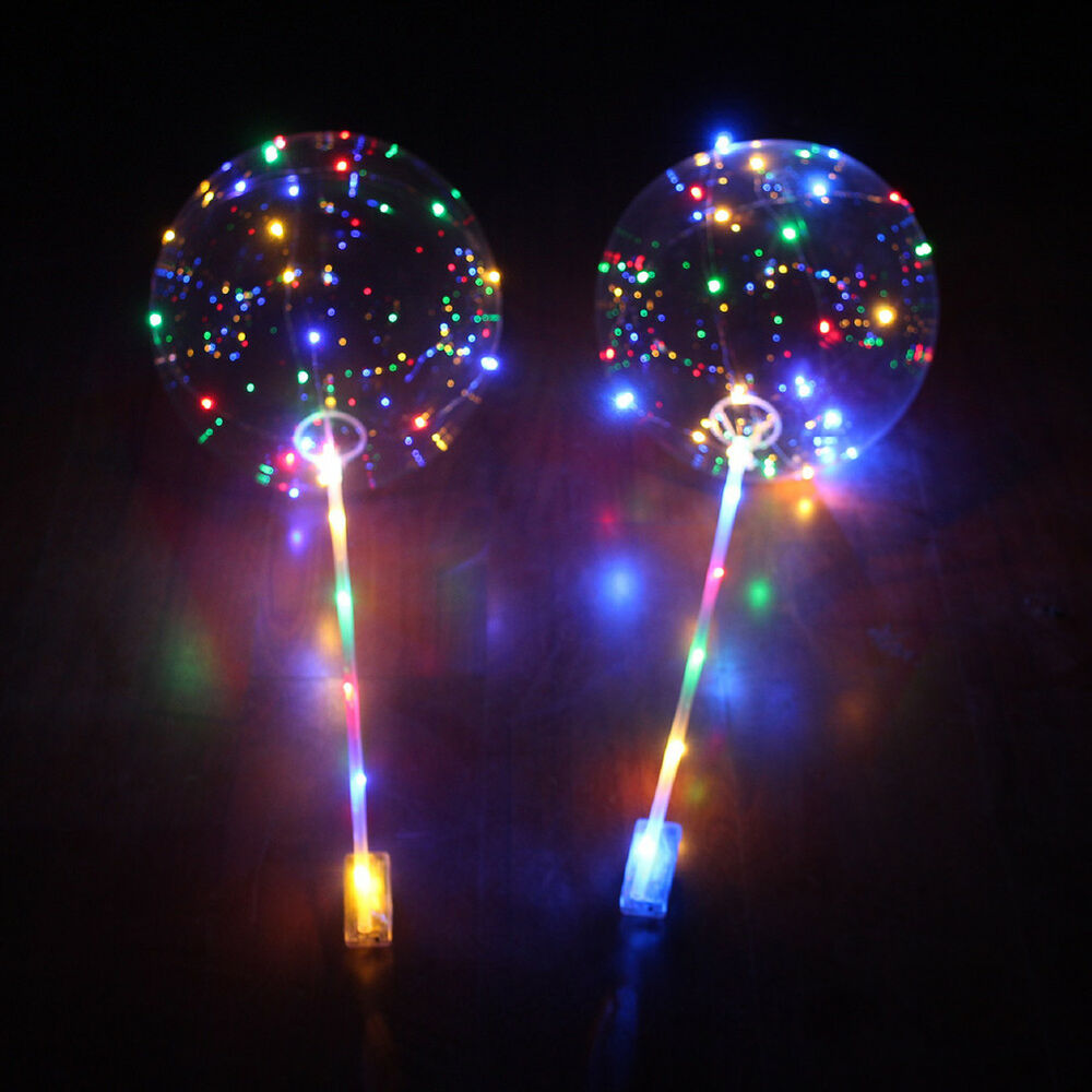 18 39 39 led light balloons clear balloon wedding birthday party light decor healthy ebay. Black Bedroom Furniture Sets. Home Design Ideas