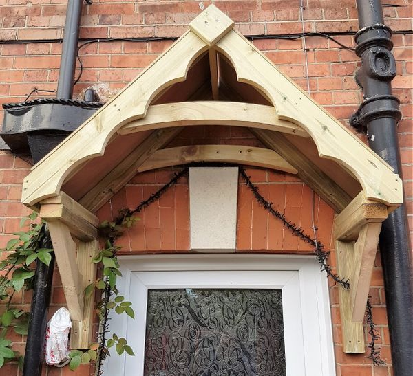 Details About Small Cottage Style Porch Canopy Front Door