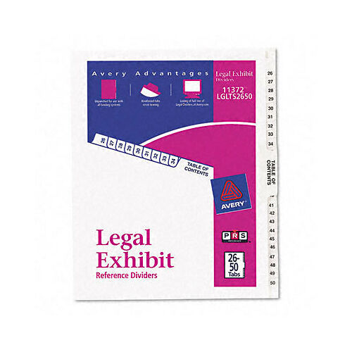 lot-of-3-new-avery-legal-exhibit-side-dividers-2650-tabs-11372-lglts2650