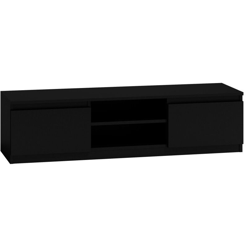 tv schrank lowboard fernseher schrank tv m bel fernsehtisch 140cm schwarz ebay. Black Bedroom Furniture Sets. Home Design Ideas