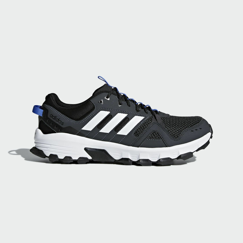 f195f2526b65 Details about New adidas Rockadia Trail Running Shoes CM7212 Black White  Blue