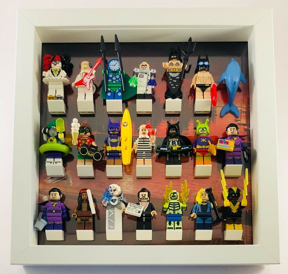 lego batman movie series 1 2 minifigures display case frame mini figures ebay. Black Bedroom Furniture Sets. Home Design Ideas