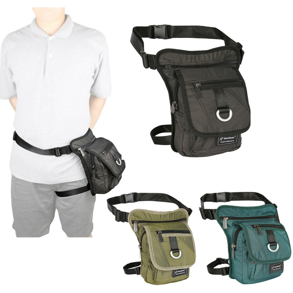 Details about Mens Womens Canvas Leg Pouch Bag Thigh Pack Tactical Fanny  Pack Hip Bag a4d3bfb03