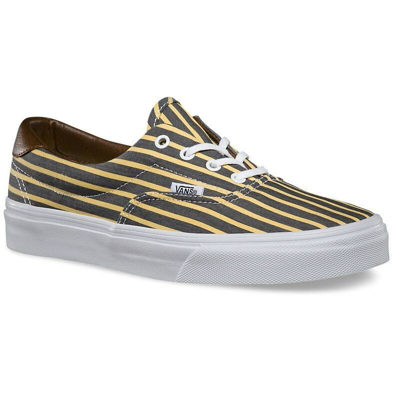 5eab23126be4 Details about VANS Era 59 (Stripes) Yellow True White Skate Shoes WOMEN S 9