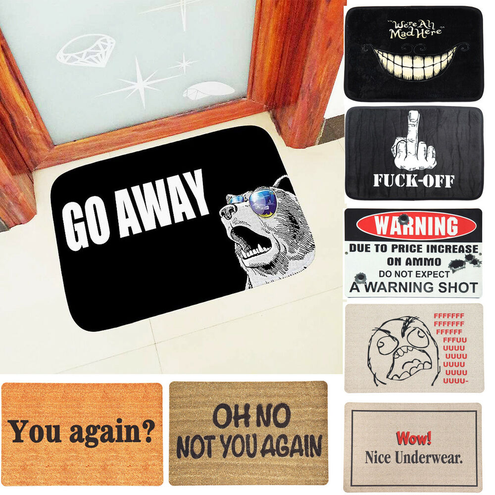 Funny Door Mat Rubber Floor Rug Anti Slip Pad Home Indoor