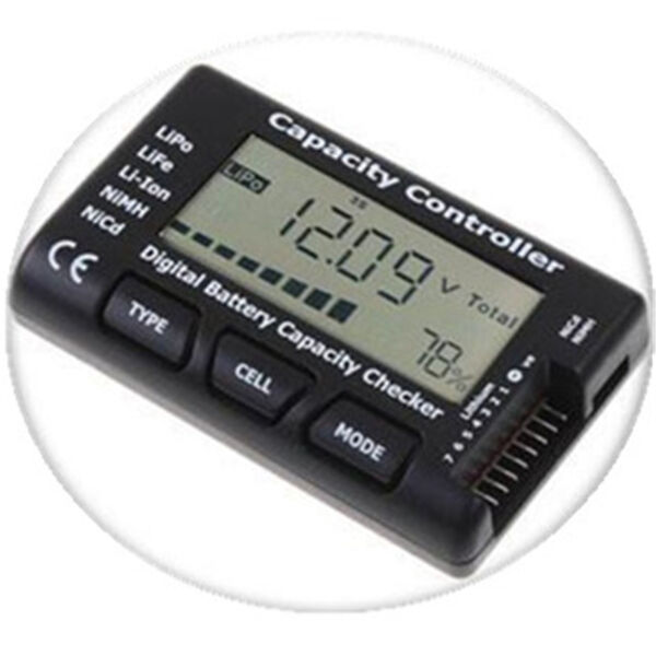 RC LCD Battery Capacity Voltage Checker Controller Tester for RC LiPo Battery 1x