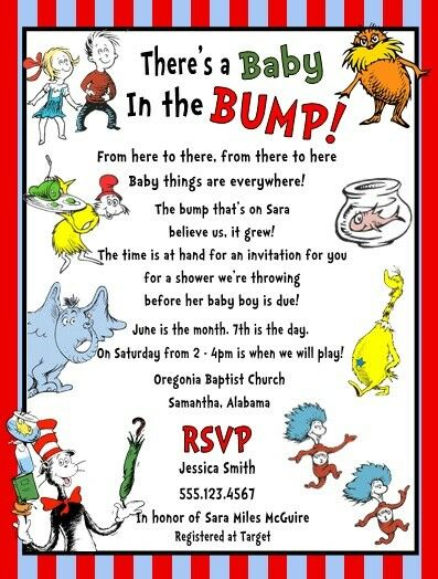 Cat In The Hat Birthday Invitations Personalized