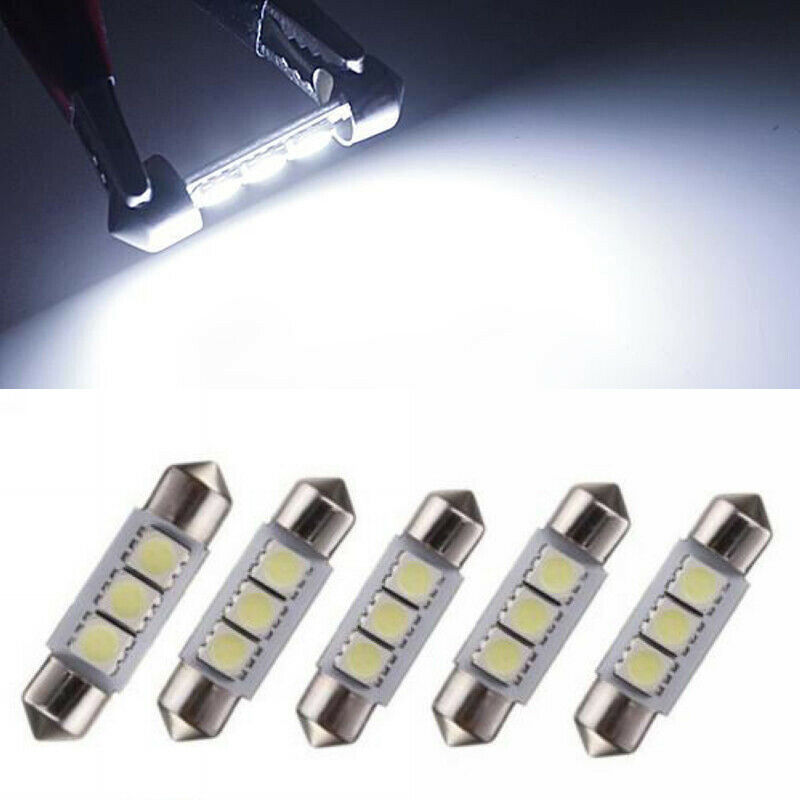 5x 36mm 3smd led soffitte auto kfz innenraumbeleuchtung. Black Bedroom Furniture Sets. Home Design Ideas