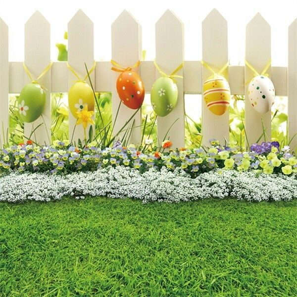 Seamless Easter Theme 8x8ft Photography Backgrounds Garden