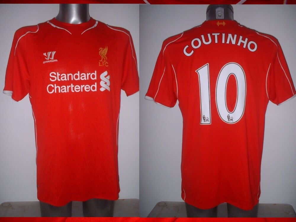 3b5f9732f1d Details about Liverpool COUTINHO Warrior Adult Large Football Soccer Jersey  Shirt Brazil Top