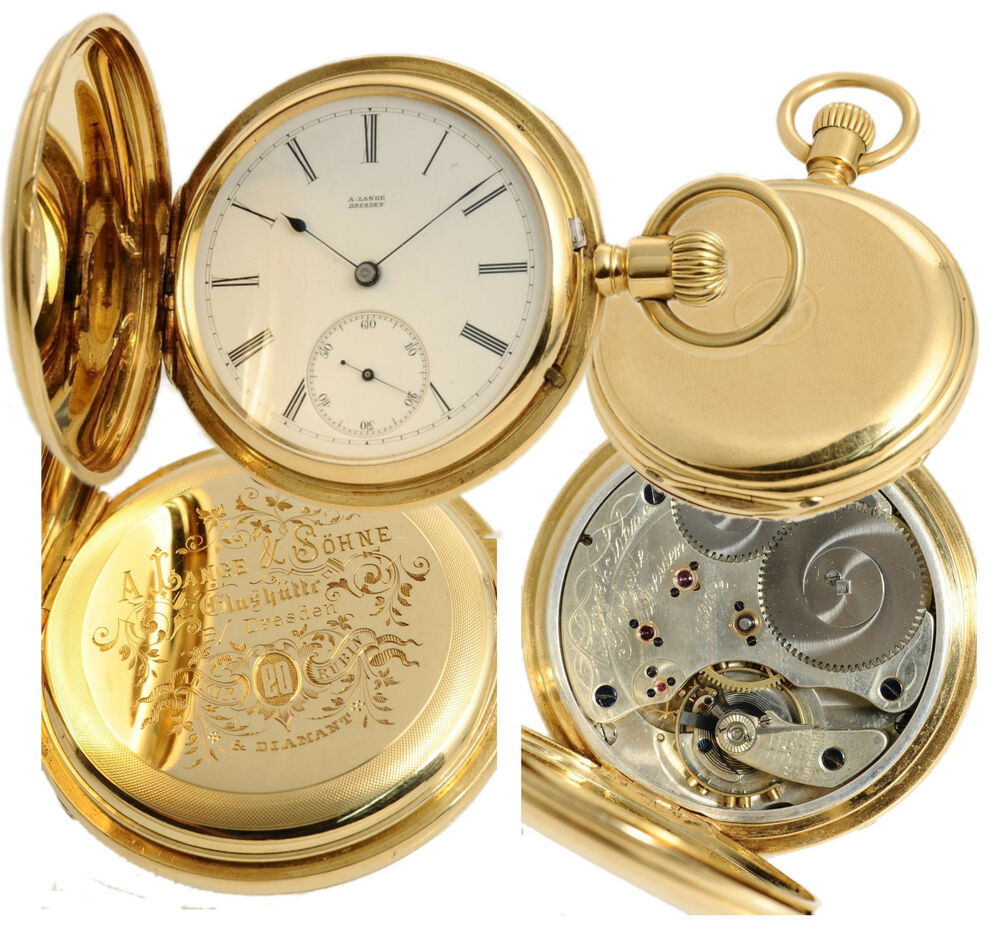 1 a qualit t sehr fr he a lange dresden taschenuhr 1876 18k gold stammbuchauszug ebay. Black Bedroom Furniture Sets. Home Design Ideas