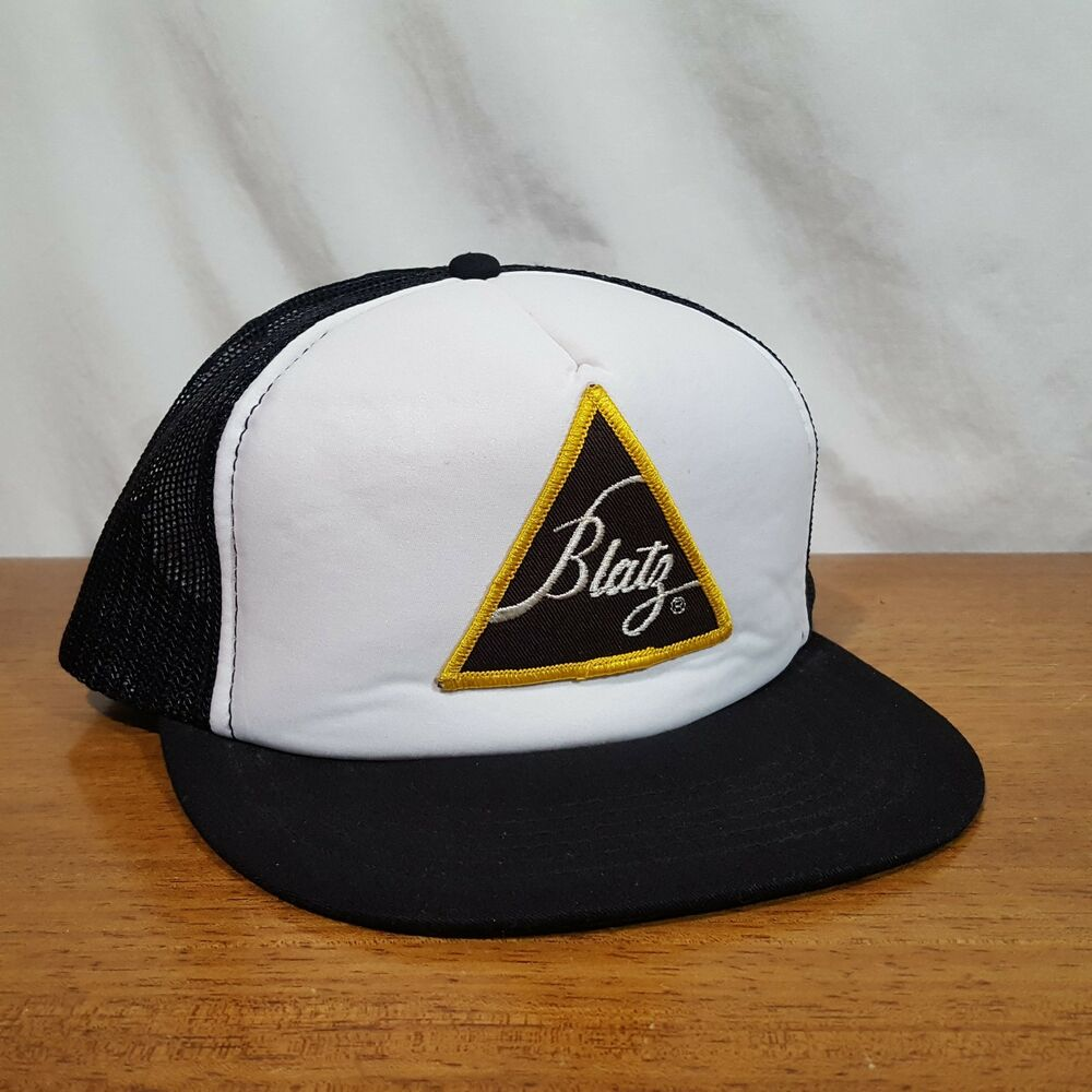 Details about Vintage Blatz Beer Embroidered Patch Logo Snapback Mesh Foam  Trucker Hat Cap 063bac4f249