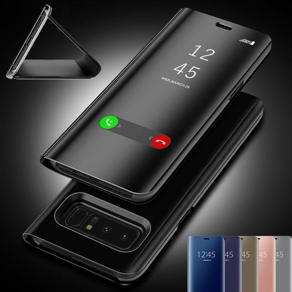 Mirror Clear View Smart Flip Case Cover For Samsung Galaxy S9 Note 9 S8 S7  Edge af3c801db616