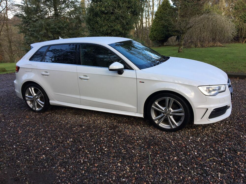 2014 14 reg audi a3 2 0 tdi 150 s line sportback white 5. Black Bedroom Furniture Sets. Home Design Ideas