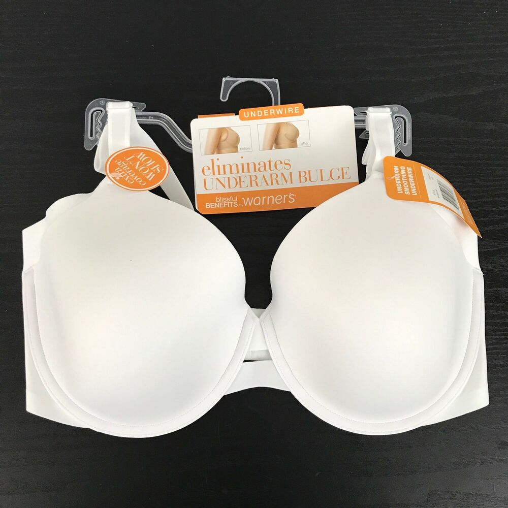 728188a196c0f Details about Warner s Blissful Benefits Underarm Smoothing UW Bra White  RA3561W NWT