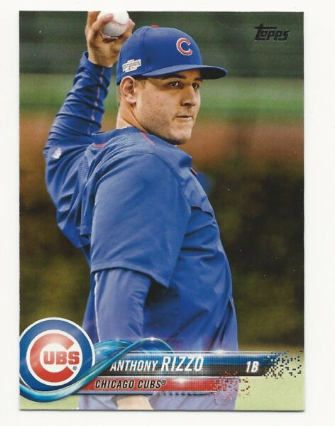 Anthony Rizzo 2018 Topps SP Photo Variation #50 Cubs Short Print