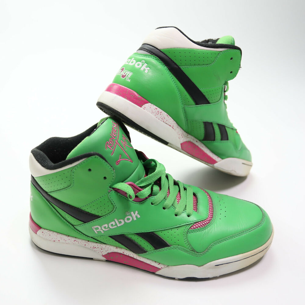 f8499c131642e0 Details about Reebok Reverse Jam Series Mens Size 12 Green Hexalite Shoes
