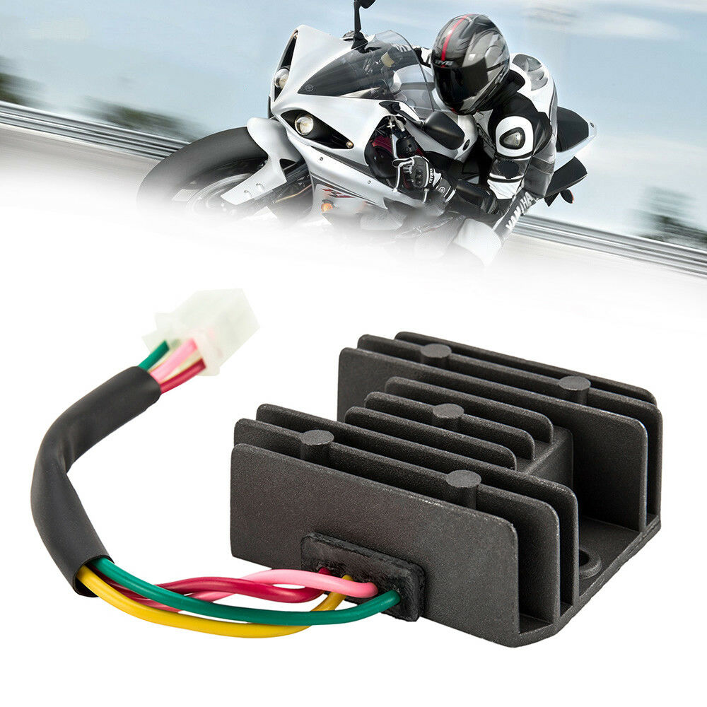 Universal 4 Wire 2 Phase Motorcycle Regulator Rectifier 12v Quad Wiring Diagram For Scooter Bike 870230011509 Ebay