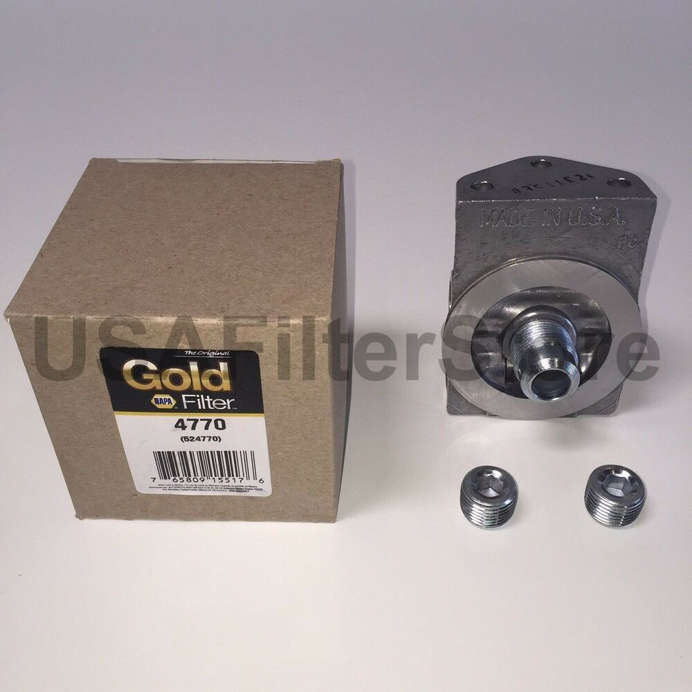 Genuine Napa Gold 4770 Fuel Filter Remote Mounting Base ( Wix 24770 )