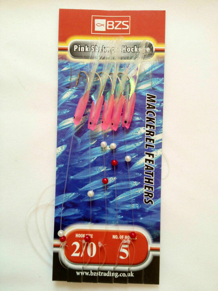 5 Packets of Sea tech Storm Mackerel mackeral Bass Feathers Rigs = All Colours