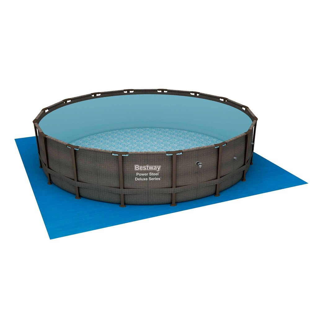 Bestway 16 39 x 48 power steel frame above ground swimming for Bestway pool obi