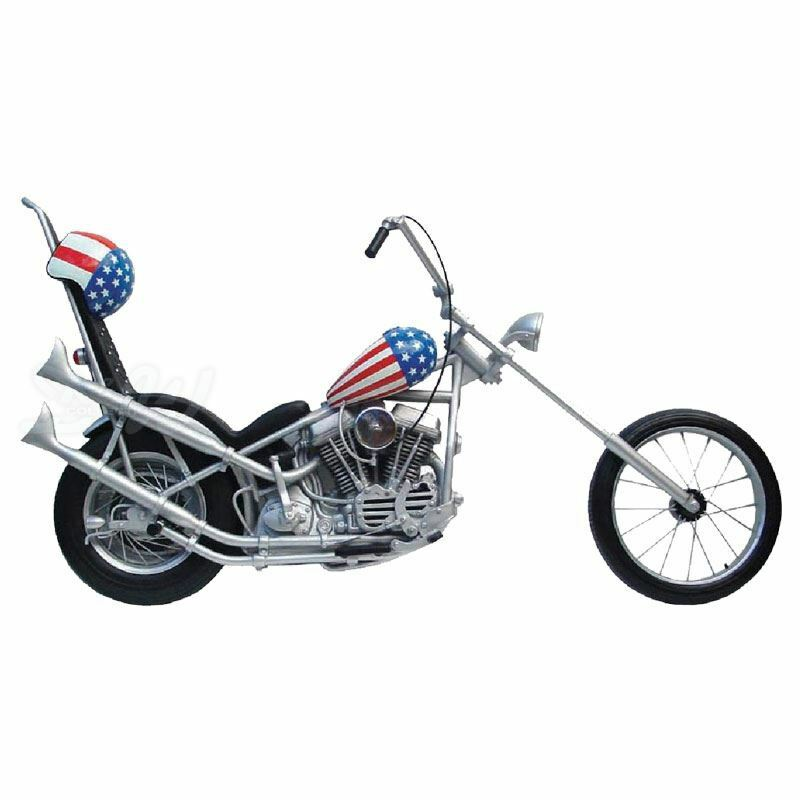 deko motorrad chopper easy rider harley davidson figur. Black Bedroom Furniture Sets. Home Design Ideas
