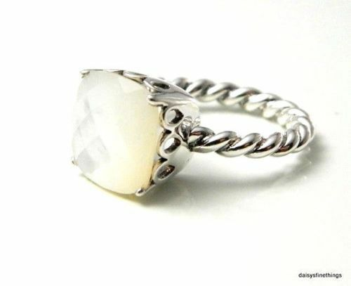 74c6b8c9d Details about NWT AUTHENTIC PANDORA RING SILVER SILVER MOTHER OF PEARL  #190828MP-58 SIZE 8.5
