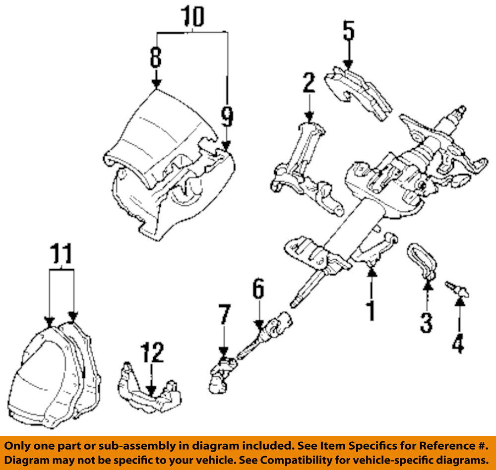 details about toyota oem 93-97 corolla-steering column 4520002051