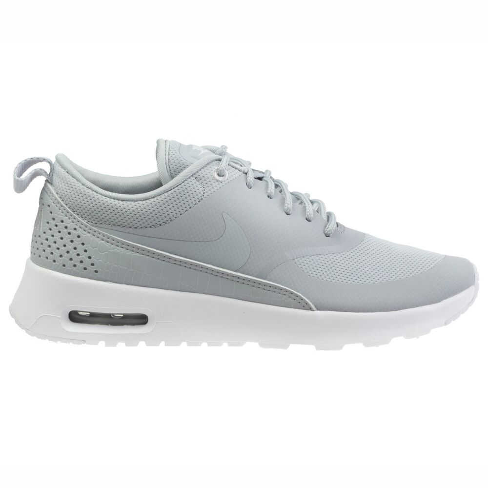 promo code 5eff7 97c0e Details about Nike Air Max Thea Womens 599409-023 Wolf Grey Textile Running  Shoes Size 6