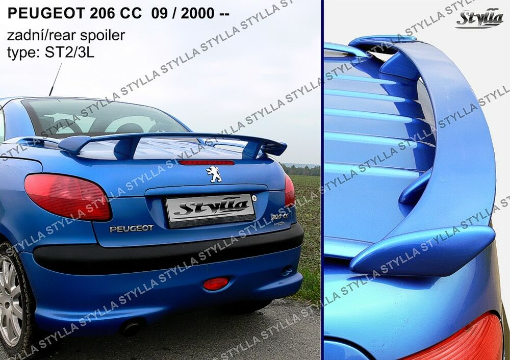 spoiler rear boot peugeot 206 cc wing accessories ebay. Black Bedroom Furniture Sets. Home Design Ideas