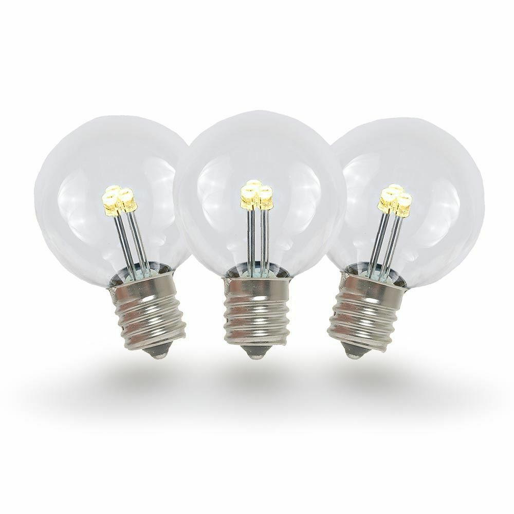 25 Pack G30 LED Outdoor String Light Patio Globe Replacement Bulbs, Warm White  eBay