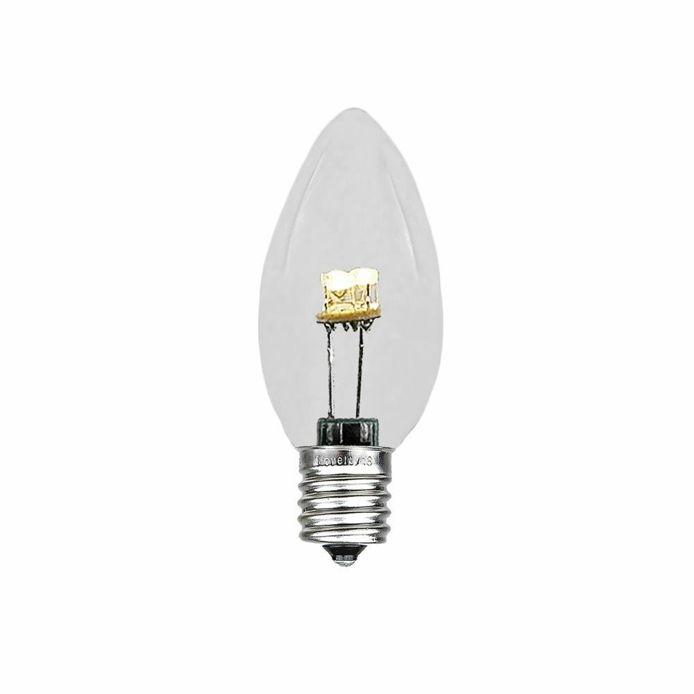 Porch Light Bulb Replacement: 25 Pack C7 LED Outdoor Patio Party Christmas Replacement