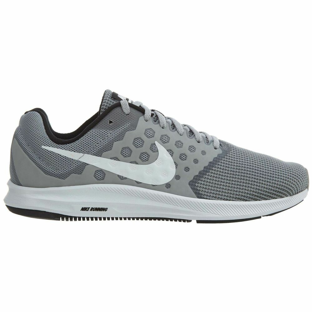 cf784a77cde Details about Nike Downshifter 7 Mens 852459-007 Wolf Grey White Running  Shoes Size 10.5