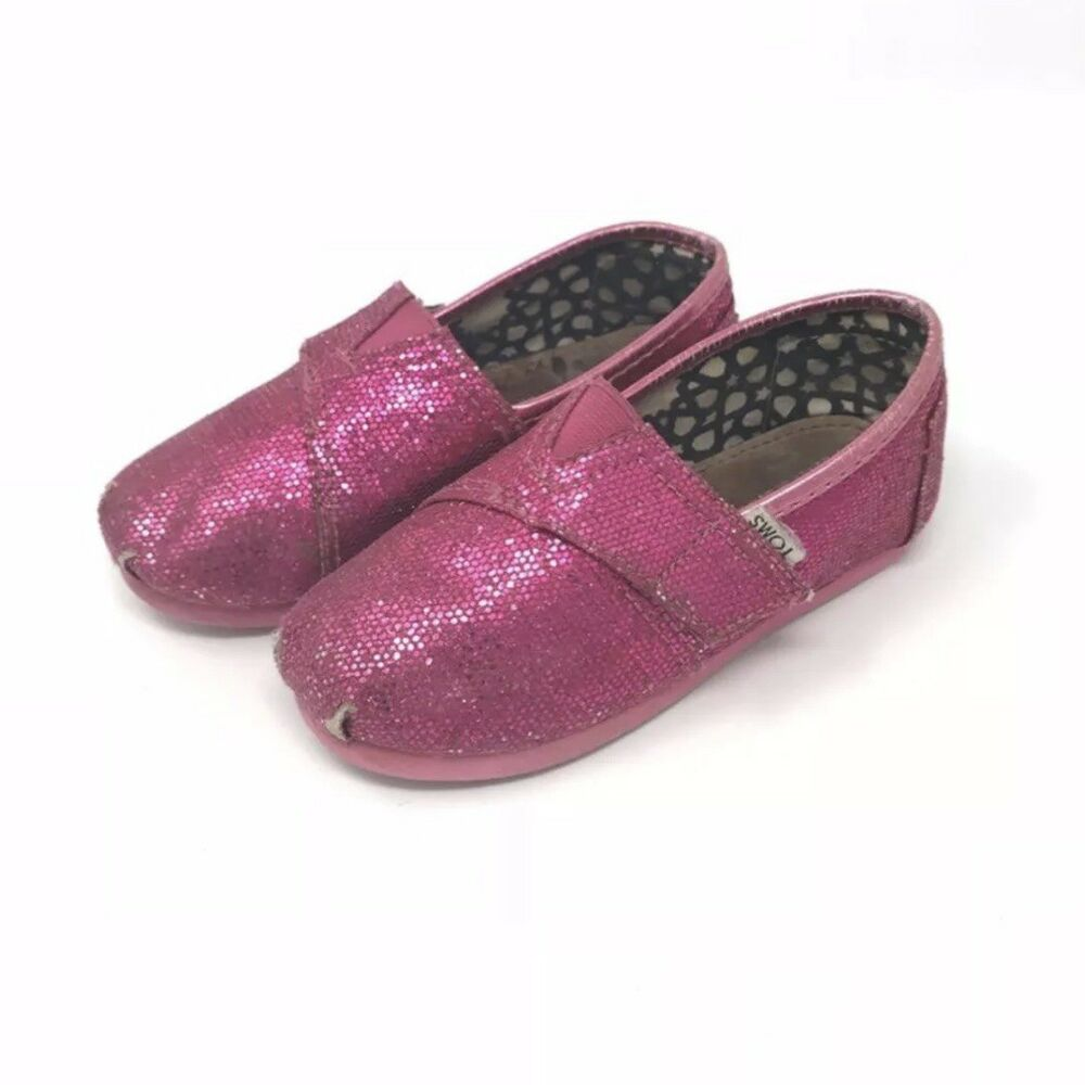 ca31da2691d Details about toms pink glitter shoes jpg 1000x1000 Purple glitter toms  shoes