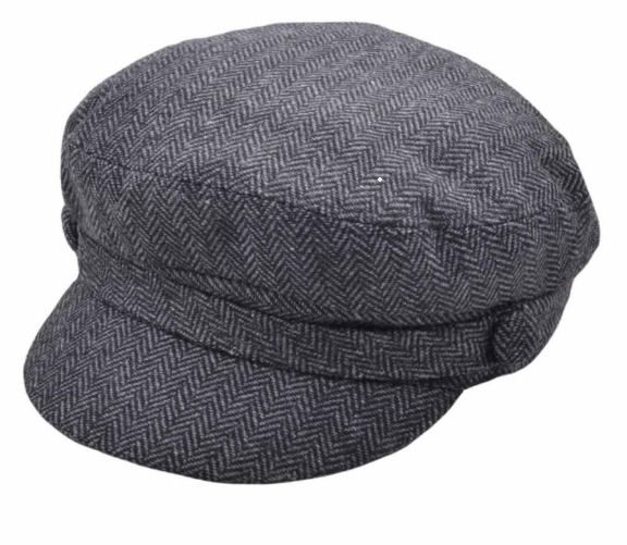 c49b21081e Details about Black G H Wool Felt Breton Fisherman Fiddler Cap Captain Hat  Sizes XS to XL