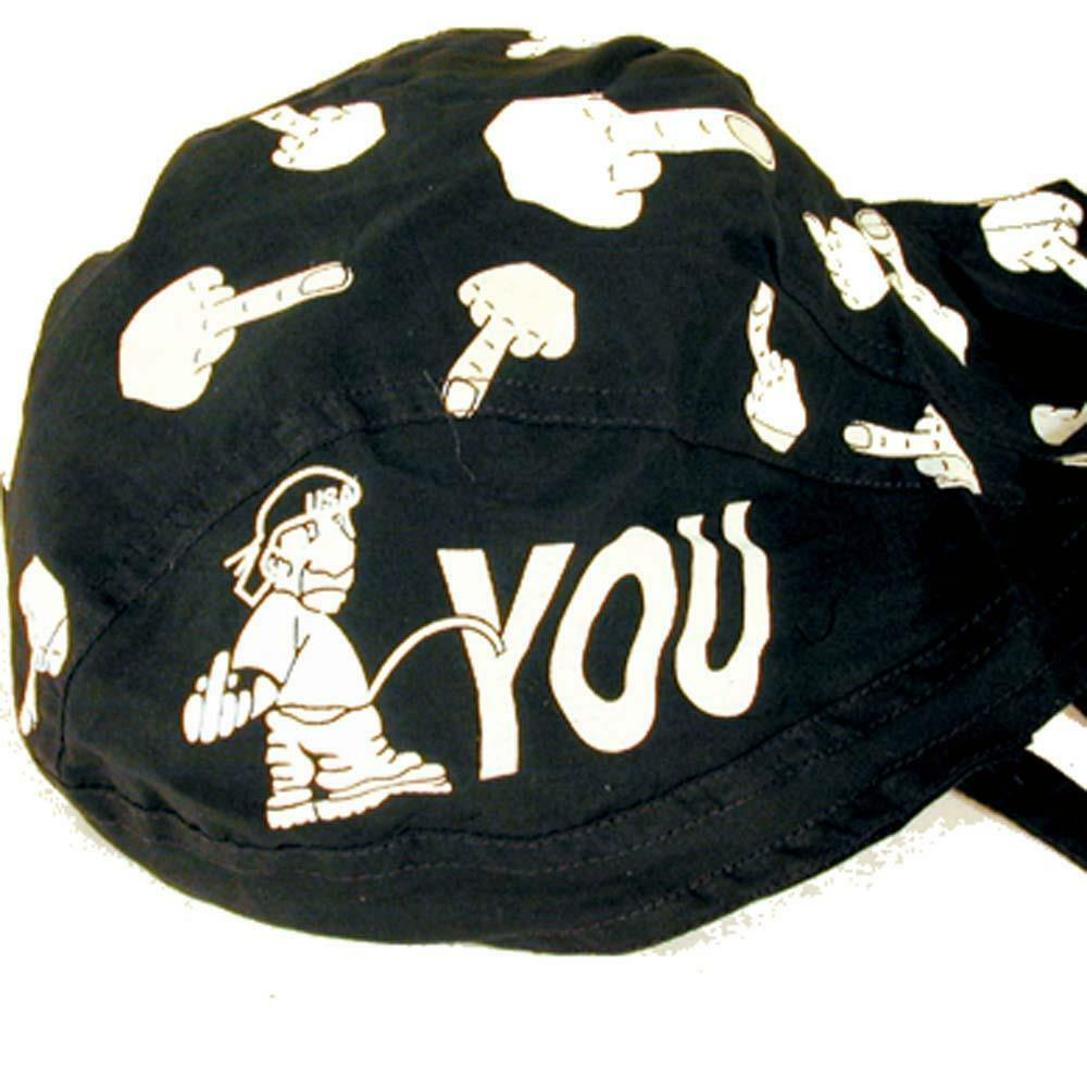 Details about buy 1 get one FREE PISS ON YOU MIDDLE FINGER BANDANA CAP  dorag hat men #126 NEW