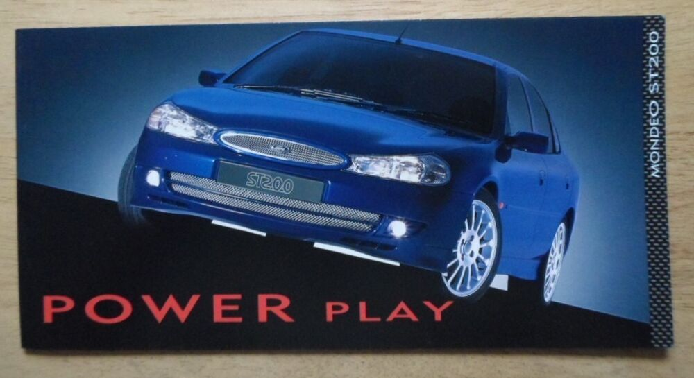 ford mondeo st200 1999 uk mkt sales mailer brochure st. Black Bedroom Furniture Sets. Home Design Ideas