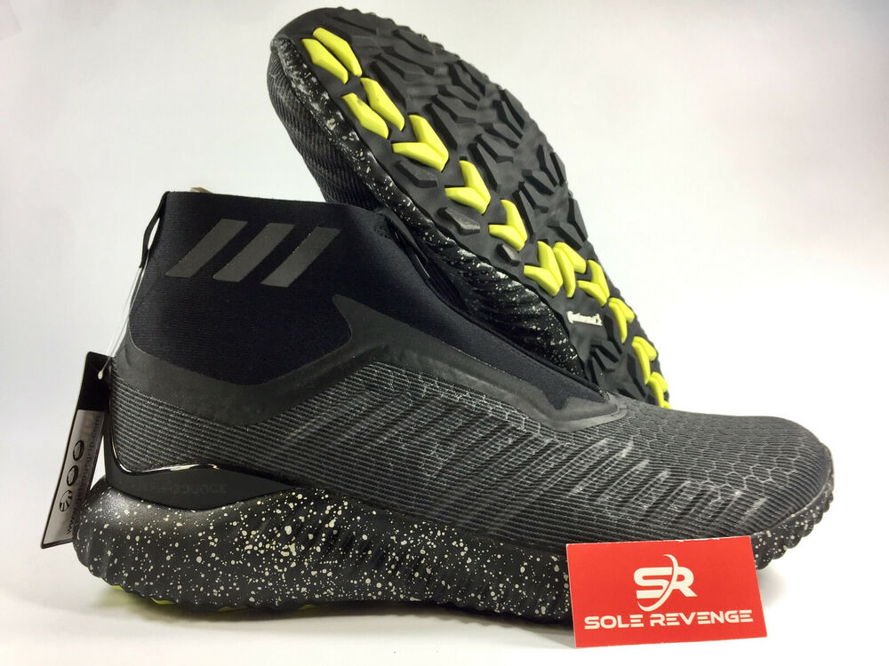 364acd1d3 New adidas ALPHABOUNCE 5.8 ZIP SHOES BW1386 Black Utility White Running  Shoes x1