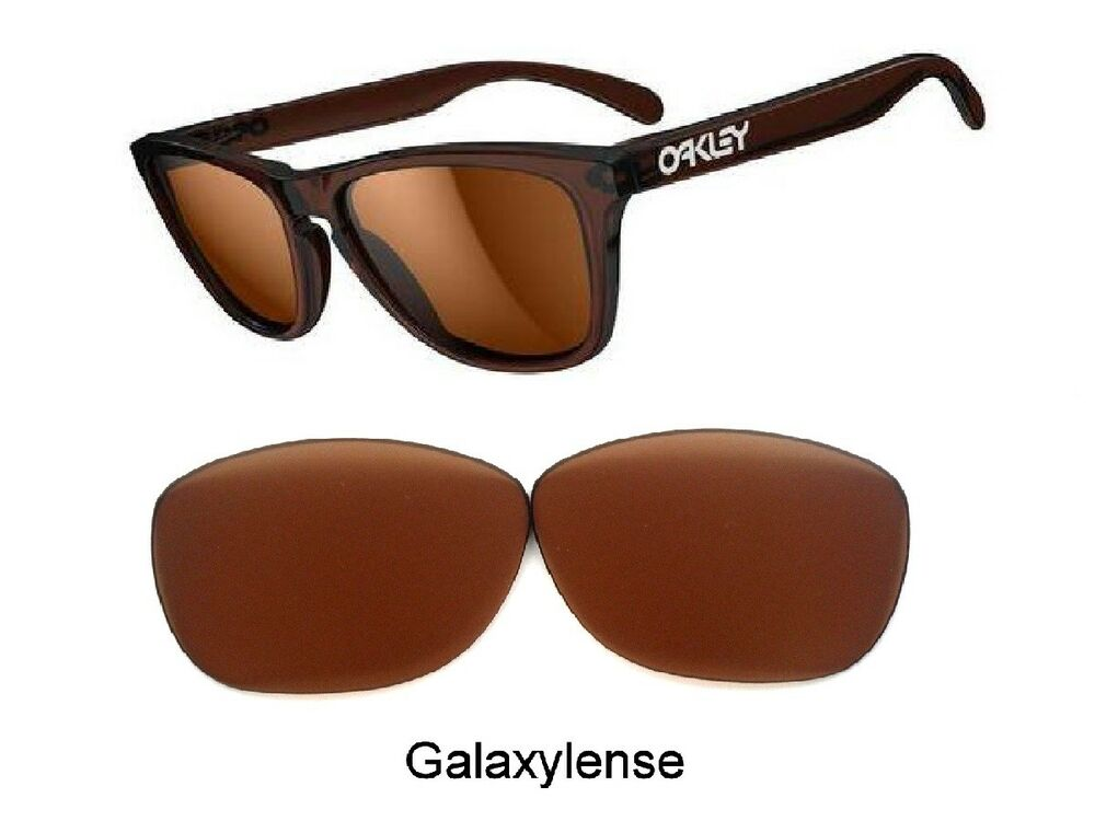 e3c6f3b67fe Details about Galaxy Prizm Technology Replacement Lenses For Oakley  Frogskins Brown Color