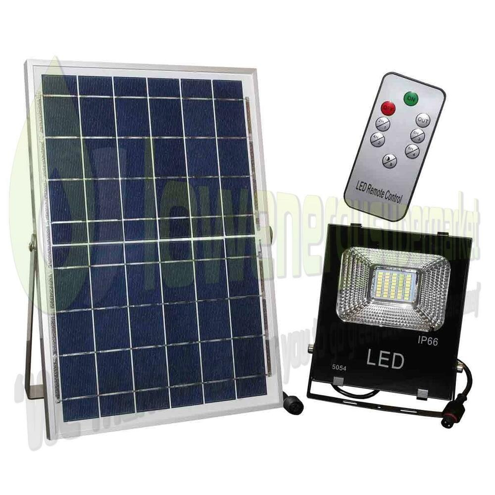 Solar Powered 20w LED Outdoor Light Rechargeable Shed