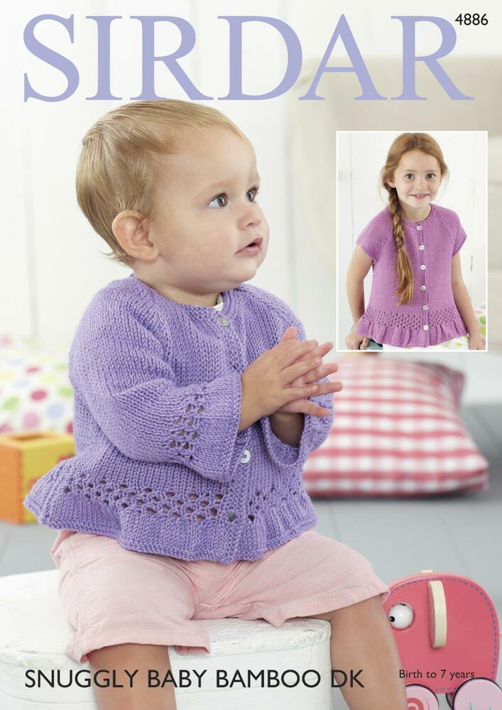 Sirdar 4886 Knitting Pattern Baby and Child Cardigans in Snuggly ...