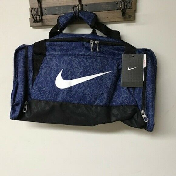 23fedfc228b5 Details about NWT Nike Brasilia 6 Small Graphic Duffel Gym Bag Grip BA5116  Various Colors