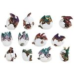 Set of 12 Mini Dragon Red Blue Green Purple Baby Hatching Egg Hatchling GSC71795