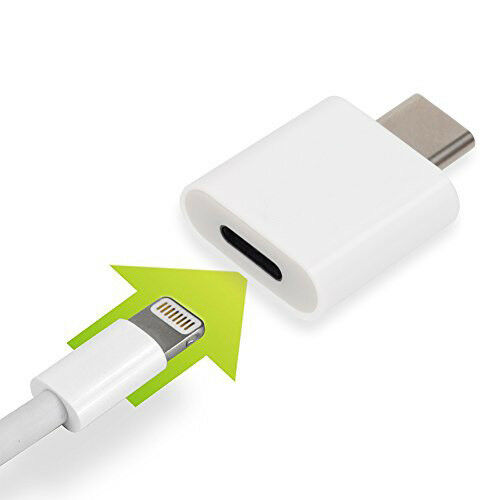 ADATTATORE DA 8 PIN LIGHTNING IPHONE FEMMINA a Type C USB TIPO cavo dati MASCHIO