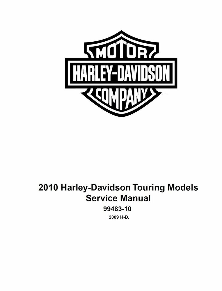 2010 harley davidson road king flhr flhrc service manual on cd