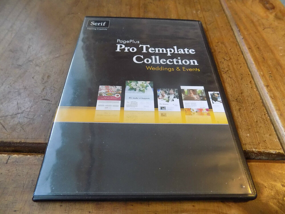 Serif Pro Template Collection Wedding & Events For PagePlus X4/X5 | eBay