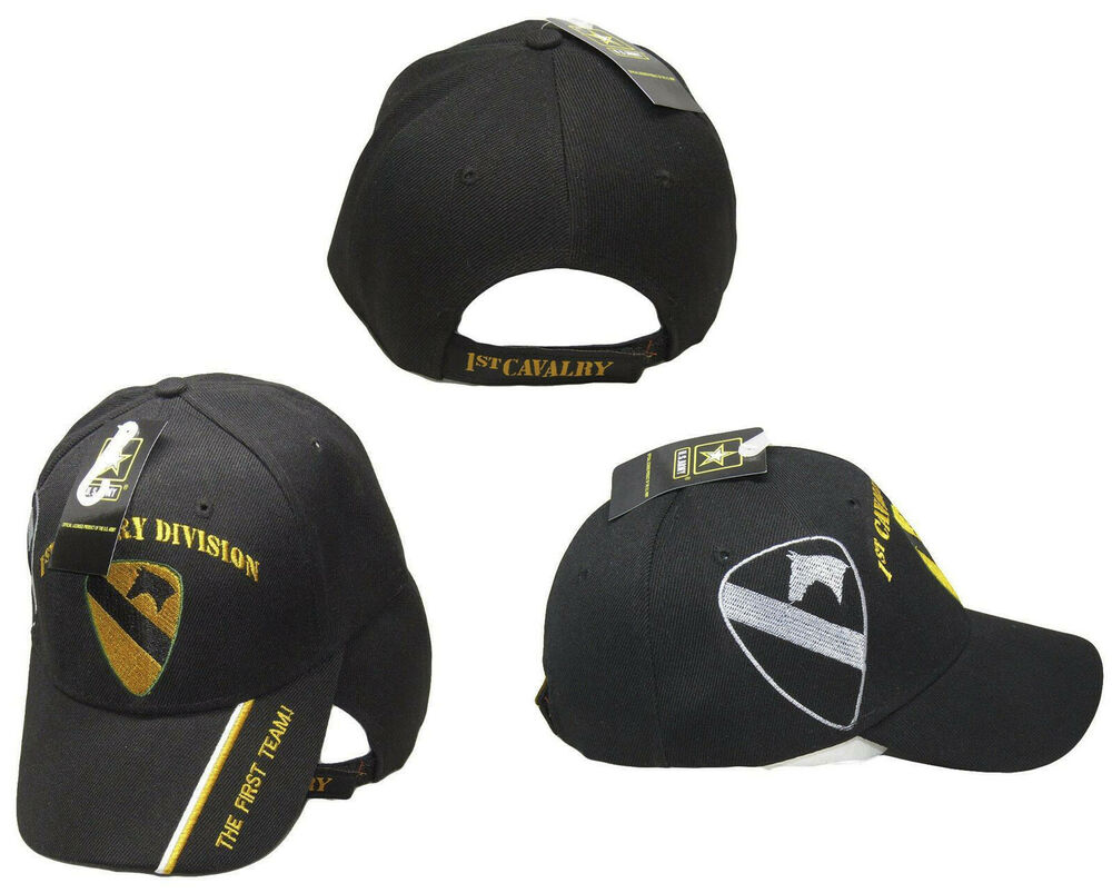 18ab3e17b589a U.S. Army 1st Cavalry Division Shadow Black Embroidered Cap Hat (RAM ...
