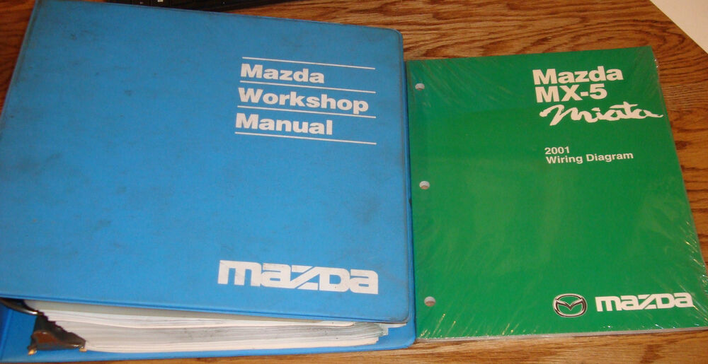 Original 2001 Mazda MX-5 Miata Shop Service Manual ...