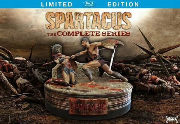 Spartacus:Complete Series Limited Edition[Blu-ray]with figure, New free shipping