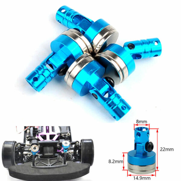 Blue Alloy Magnetic Stealth Body Shell Post Mount HSP Upgrade Parts 1/10 RC Car
